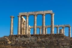 Ruins of Poseidon Temple, Greece Royalty Free Stock Photography