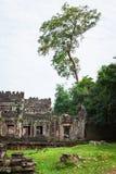 Ruins of Pra Khan Temple in Angkor Thom of Cambodia Royalty Free Stock Photos