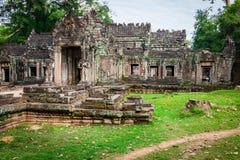 Ruins of Pra Khan Temple in Angkor Thom of Cambodia Stock Photo