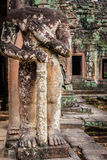 Ruins of Pra Khan Temple in Angkor Thom of Cambodia Stock Images