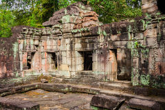 Ruins of Pra Khan Temple in Angkor Thom of Cambodia Royalty Free Stock Photo