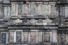 Ruins of Prambanan temple complex, Java island Royalty Free Stock Photo