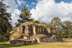 Ruins of the pre-hispanic Mayan town Iximche. Guatemala Stock Photography