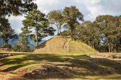 Ruins of the pre-hispanic Mayan town Iximche. Guatemala Stock Photos