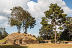 Ruins of the pre-hispanic Mayan town Iximche Stock Images