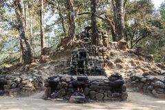 Ruins of the pre-hispanic Mayan town Iximche. Guatemala Royalty Free Stock Images