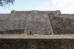 Ruins of the pre-hispanic & x28;pre-Colombian& x29; pyramide called Tenayuca. in Mexico City, Mexico Royalty Free Stock Photo