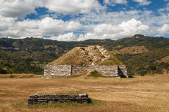 Ruins of the pre-hispanic & x28;pre-Colombian& x29; town Mixco Viejo Royalty Free Stock Images
