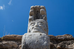 Ruins of the pre-hispanic & x28;pre-Colombian& x29; town Mixco Viejo Royalty Free Stock Image