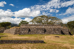Ruins of the pre-hispanic & x28;pre-Colombian& x29; town Mixco Viejo. Guatemala Royalty Free Stock Image