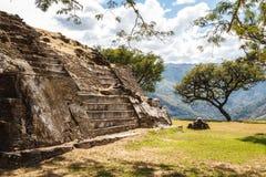Ruins of the pre-hispanic & x28;pre-Colombian& x29; town Mixco Viejo Stock Image