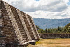 Ruins of the pre-hispanic & x28;pre-Colombian& x29; town Mixco Viejo. Guatemala Royalty Free Stock Images