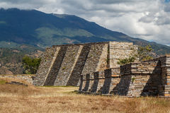 Ruins of the pre-hispanic & x28;pre-Colombian& x29; town Mixco Viejo. Guatemala Stock Image