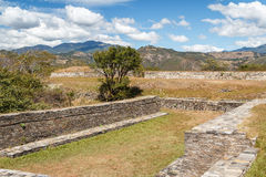 Ruins of the pre-hispanic & x28;pre-Colombian& x29; town Mixco Viejo. Guatemala Royalty Free Stock Photos