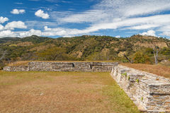 Ruins of the pre-hispanic & x28;pre-Colombian& x29; town Mixco Viejo Stock Photography