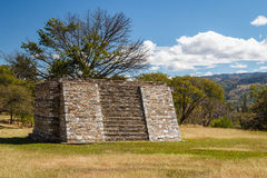 Ruins of the pre-hispanic & x28;pre-Colombian& x29; town Mixco Viejo. Guatemala Stock Photos