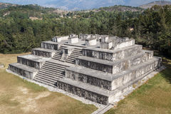 Ruins of the pre-Hispanic & x28;pre-Colombian& x29; town Zaculeu. Guatemala Royalty Free Stock Image