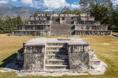 Ruins of the pre-Hispanic & x28;pre-Colombian& x29; town Zaculeu Stock Photo