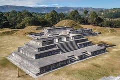 Ruins of the pre-Hispanic & x28;pre-Colombian& x29; town Zaculeu Royalty Free Stock Photos