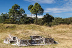 Ruins of the pre-Hispanic & x28;pre-Colombian& x29; town Zaculeu Stock Image