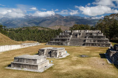Ruins of the pre-Hispanic & x28;pre-Colombian& x29; town Zaculeu Royalty Free Stock Images