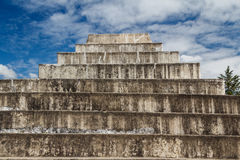 Ruins of the pre-Hispanic & x28;pre-Colombian& x29; town Zaculeu. Guatemala Royalty Free Stock Photography