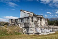 Ruins of the pre-Hispanic & x28;pre-Colombian& x29; town Zaculeu. Guatemala Royalty Free Stock Photos