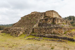 Ruins of the pre-hispanic town of Cacaxtla. Mexico Royalty Free Stock Photo