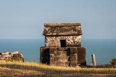 Ruins of the pre-hispanic town Quiahuiztlan, Veracruz state. Mexico Royalty Free Stock Images