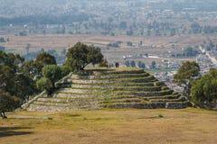 Ruins of the pre-Hispanic town of Xochitecatl. Mexico Stock Photography