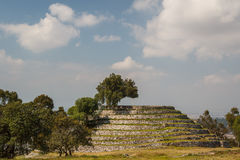 Ruins of the pre-Hispanic town of Xochitecatl. Mexico Royalty Free Stock Images