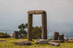 Ruins of the pre-Hispanic town of Xochitecatl. Mexico Royalty Free Stock Image