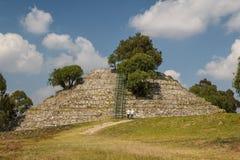 Ruins of the pre-Hispanic town of Xochitecatl. Mexico Stock Image