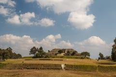 Ruins of the pre-Hispanic town of Xochitecatl. Mexico Royalty Free Stock Photo