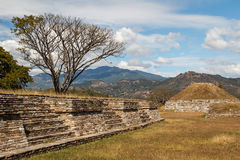 Ruins of the pre-hispanic & x28;pre-Colombian& x29; town Mixco Viejo Stock Images