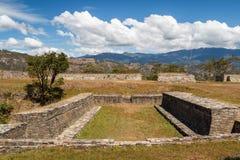 Ruins of the pre-hispanic & x28;pre-Colombian& x29; town Mixco Viejo Stock Photo