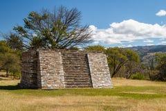 Ruins of the pre-hispanic & x28;pre-Colombian& x29; town Mixco Viejo Stock Photos