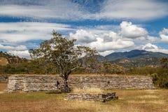 Ruins of the pre-hispanic & x28;pre-Colombian& x29; town Mixco Viejo Royalty Free Stock Photo