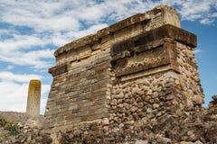 Ruins of the pre-hispanic Zapotec town Mitla. Puebla, Mexico Stock Images