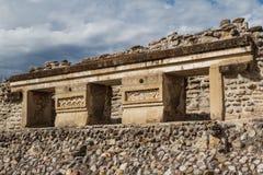 Ruins of the pre-hispanic Zapotec town Mitla. Puebla, Mexico Royalty Free Stock Image