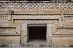 Ruins of the pre-hispanic Zapotec town Mitla. Puebla, Mexico Royalty Free Stock Images