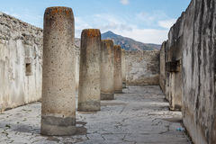 Ruins of the pre-hispanic Zapotec town Mitla Stock Photo