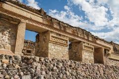 Ruins of the pre-hispanic Zapotec town Mitla. Puebla, Mexico Stock Image