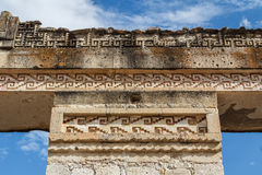 Ruins of the pre-hispanic Zapotec town Mitla Stock Photography