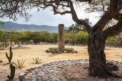 Ruins of the pre-hispanic Zapotec town Mitla. Puebla, Mexico Royalty Free Stock Photos