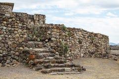 Ruins of the pre-hispanic Zapotec town Yagul. Puebla, Mexico Royalty Free Stock Photo