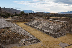 Ruins of the pre-hispanic Zapotec town Yagul Stock Photography