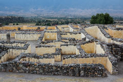 Ruins of the pre-hispanic Zapotec town Yagul, Puebla. Mexico Royalty Free Stock Images