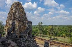 Ruins of Pre Rup, one of famous ancient Angkor temples in Cambod Royalty Free Stock Photo