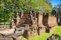 Ruins of Preah Khan Temple, Cambodia. Royalty Free Stock Photo